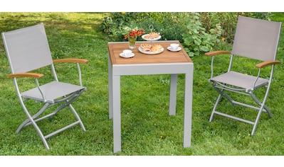 MERXX Gartentisch »Balkonauszieh - tisch«, Akazienholz/Alu, ausziehbar, 130x65 cm, braun kaufen