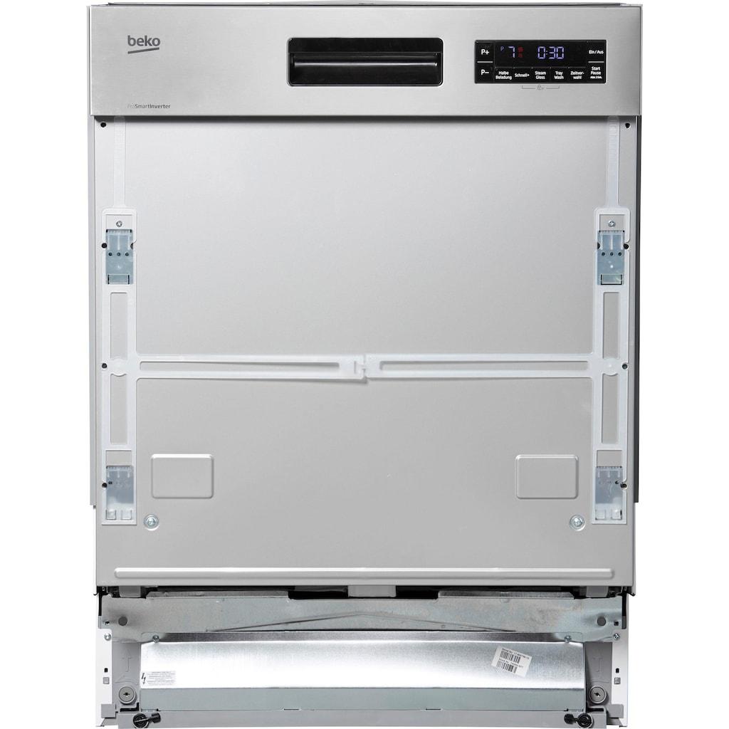 BEKO teilintegrierbarer Geschirrspüler »DSN6634FX2«, DSN6634FX2, 9,5 l, 14 Maßgedecke, mit TrayWash-Funktion
