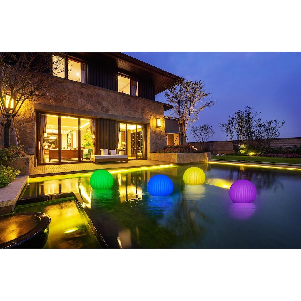 BONETTI LED Gartenleuchte »Kugelleuchte BLÜTE«, LED-Board, Blütenoptik, Ø 35 cm
