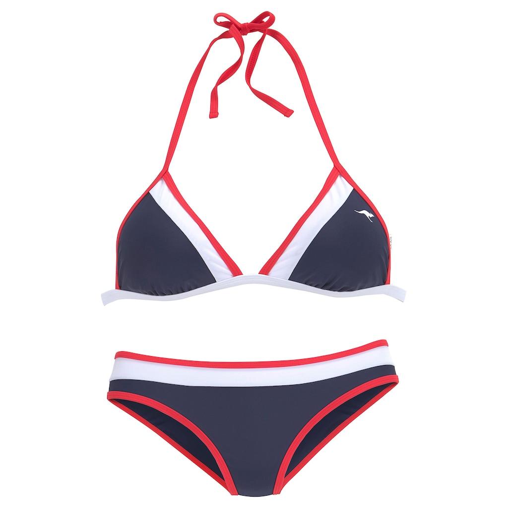 KangaROOS Triangel-Bikini, im Colourblocking-Style