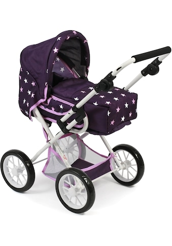 CHIC2000 Kombi-Puppenwagen »Leni, Stars lila«, mit herausnehmbarer Tragetrasche kaufen