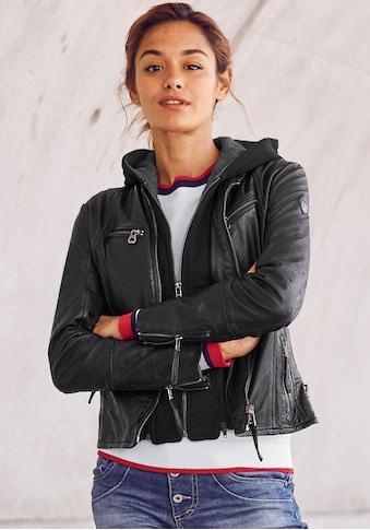 Gipsy Lederjacke »Nola«, mit abnehmberem Sweat-Kapuzen-Einsatz kaufen
