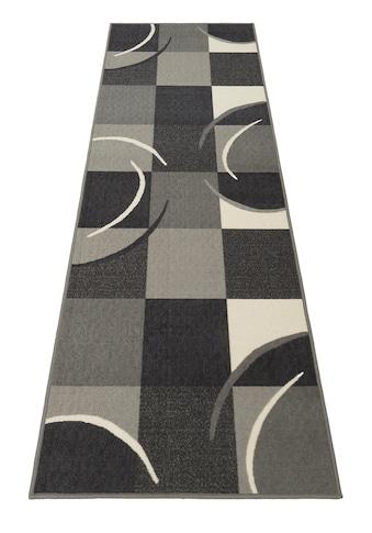 THEKO Läufer »Marco«, rechteckig, 6 mm Höhe, Teppich-Läufer, Kurzflor, kariertes Design kaufen