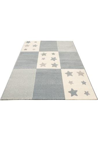Lüttenhütt Kinderteppich »Tilly«, rechteckig, 14 mm Höhe, Motiv Sterne, pastelfarben kaufen