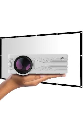 LA VAGUE LED-Beamer »LV-HD200 inkl. LV-STA100FP«, (1000:1), weiß, unterstützt Full HD kaufen
