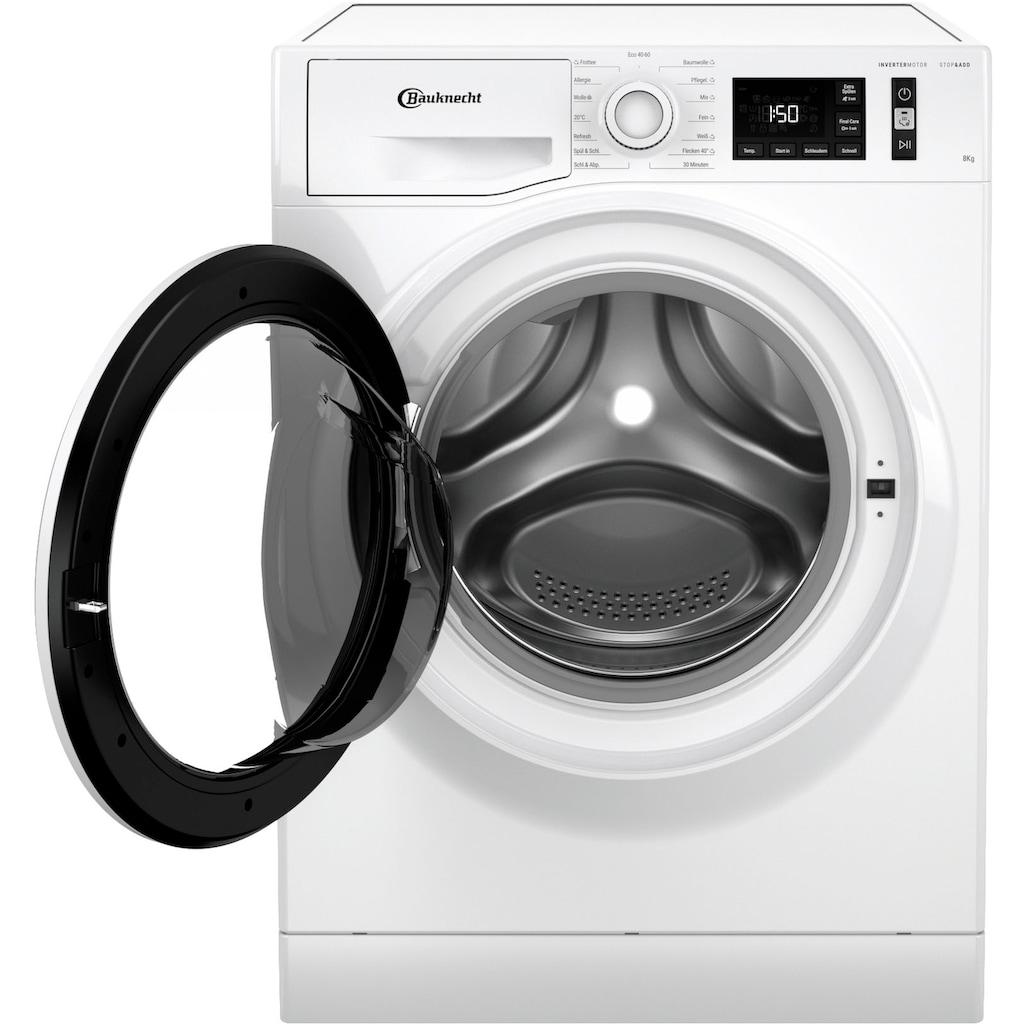 BAUKNECHT Waschmaschine »W Active 811 C«, W Active 811 C, 8 kg, 1400 U/min