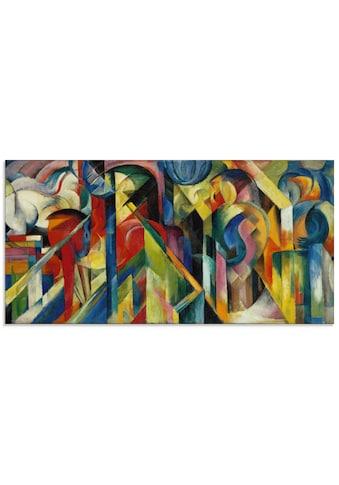 Artland Glasbild »Stallungen. 1913«, Muster, (1 St.) kaufen