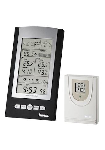 Hama Funk Wetterstation mit Außensensor, Hygrometer, Thermometer »und Barometer, Funkuhr« kaufen