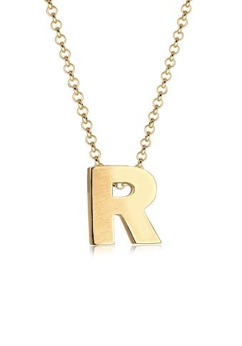 Elli Kette mit Anhänger »Buchstabe R Initialen Trend Minimal 925 Silber« kaufen
