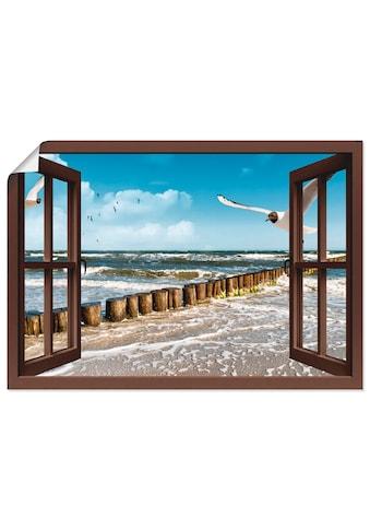 Artland Wandbild »Fensterblick - Ostsee«, Fensterblick, (1 St.), in vielen Größen &... kaufen
