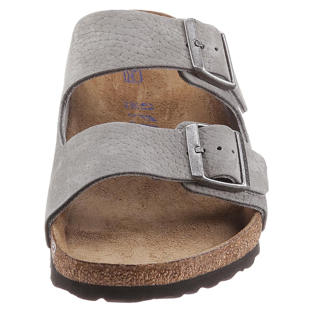 Birkenstock Pantolette »Arizona SFB«, mit Schnallen zum Verstellen, aus Leder