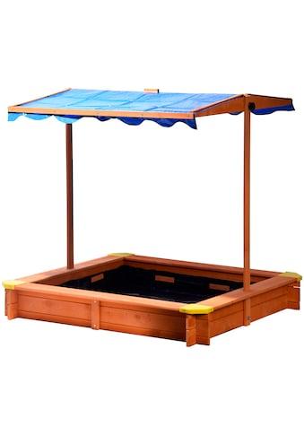 dobar Sandkasten, BxLxH: 117x117x117 cm, mit Dach und Bodenplane kaufen