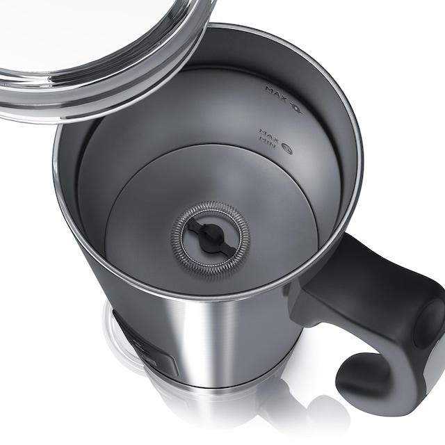 Arendo automatischer Edelstahl Milchaufschäumer mit 500W »MILKSKY Silver«