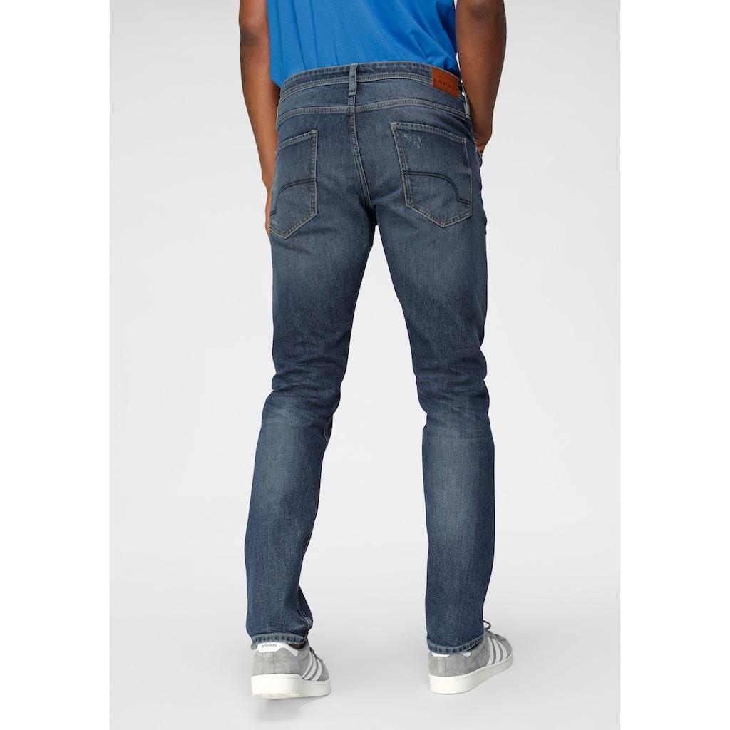 Esprit Slim-fit-Jeans, mit Destroyed-Effekten