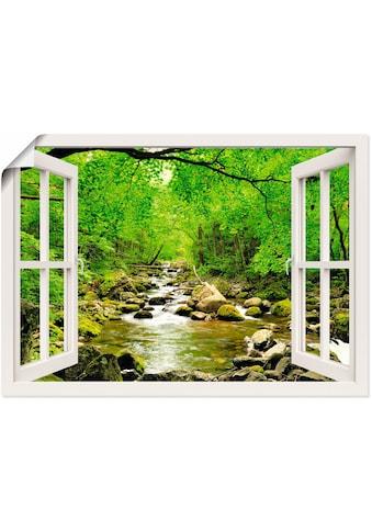 Artland Wandbild »Fensterblick Herbstwald Fluß Smolny«, Fensterblick, (1 St.), in... kaufen