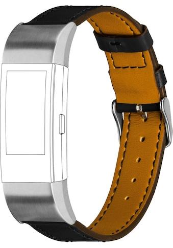 topp Accessoires Ersatz - /Wechselarmband »Leder mit Ziernaht für Fitbit Charge 2« kaufen