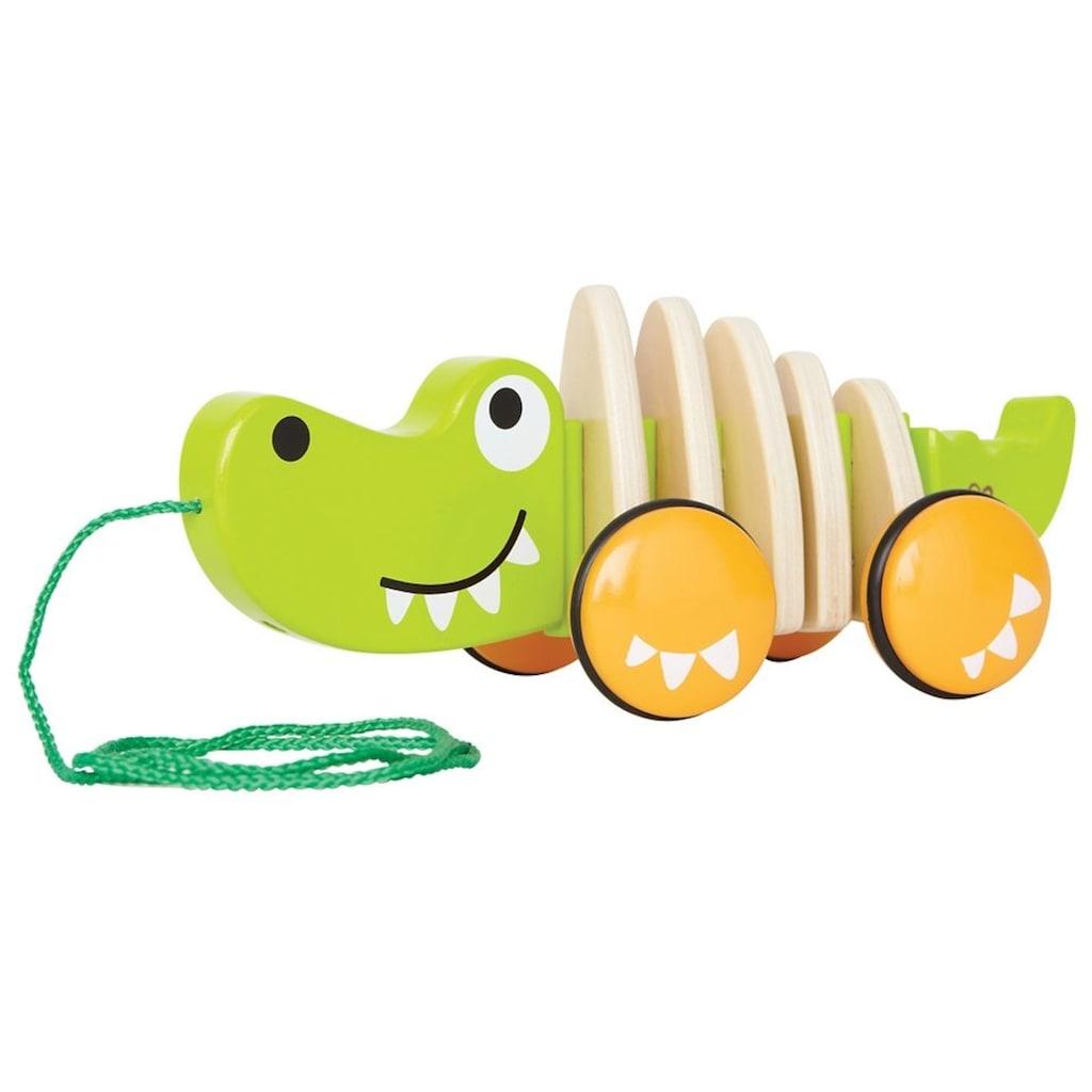 Hape Nachziehtier »Croc«, Fördert Feinmotorik, Koordination und Vorstellungskraft