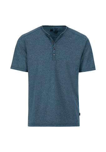 Trigema T - Shirt mit Knopfleiste DELUXE Baumwolle kaufen