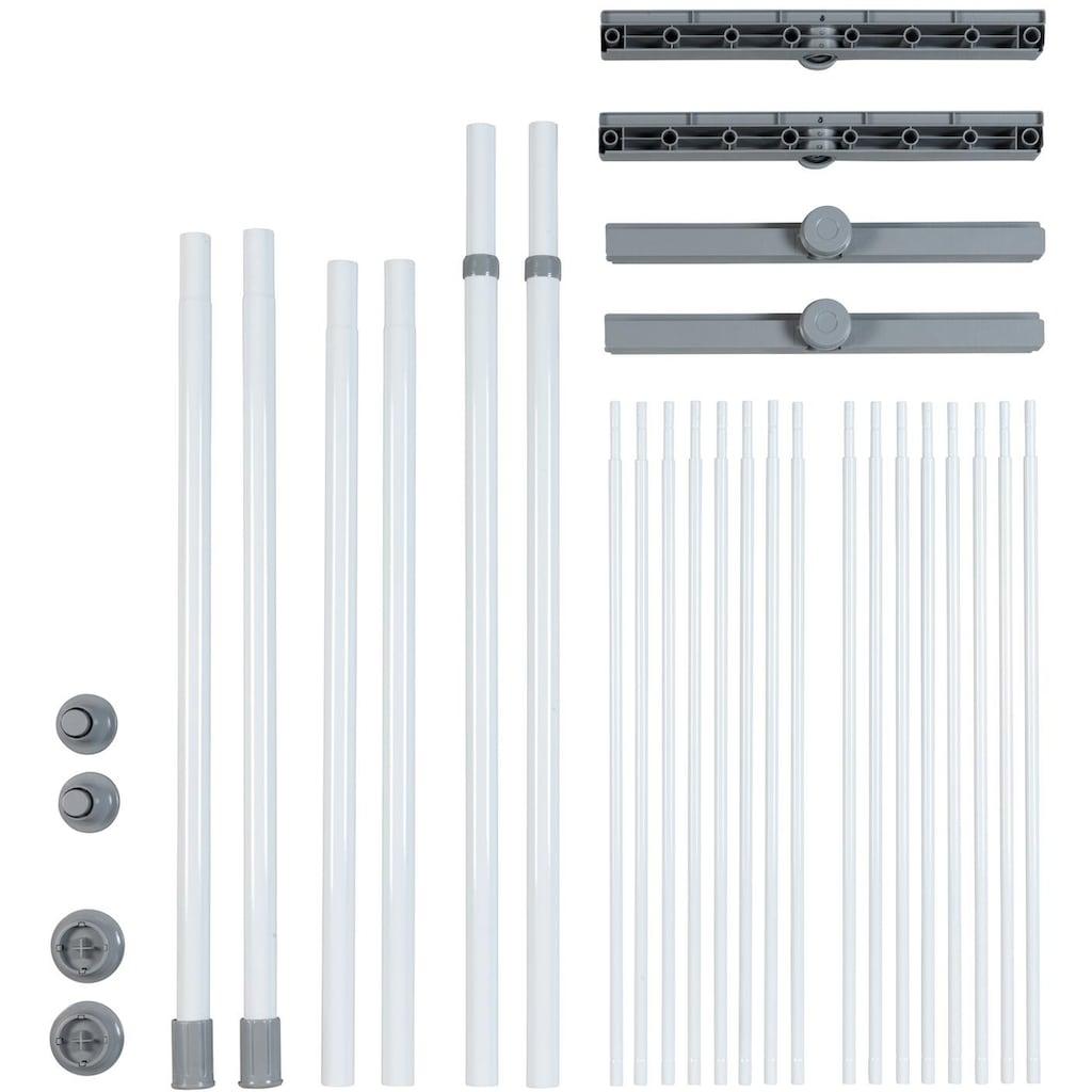 WENKO Teleskopregal »Herkules Twin«, (Set), (2 Trägerstangen, 2 Ablagen im Set), 2 Ebenen