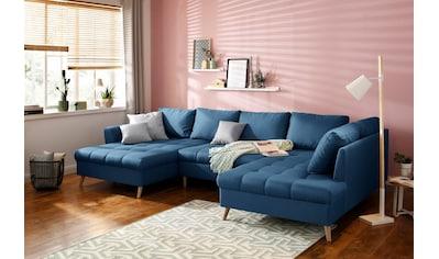 Home affaire Wohnlandschaft »Penelope«, mit feiner Steppung im Sitzbereich und losen... kaufen