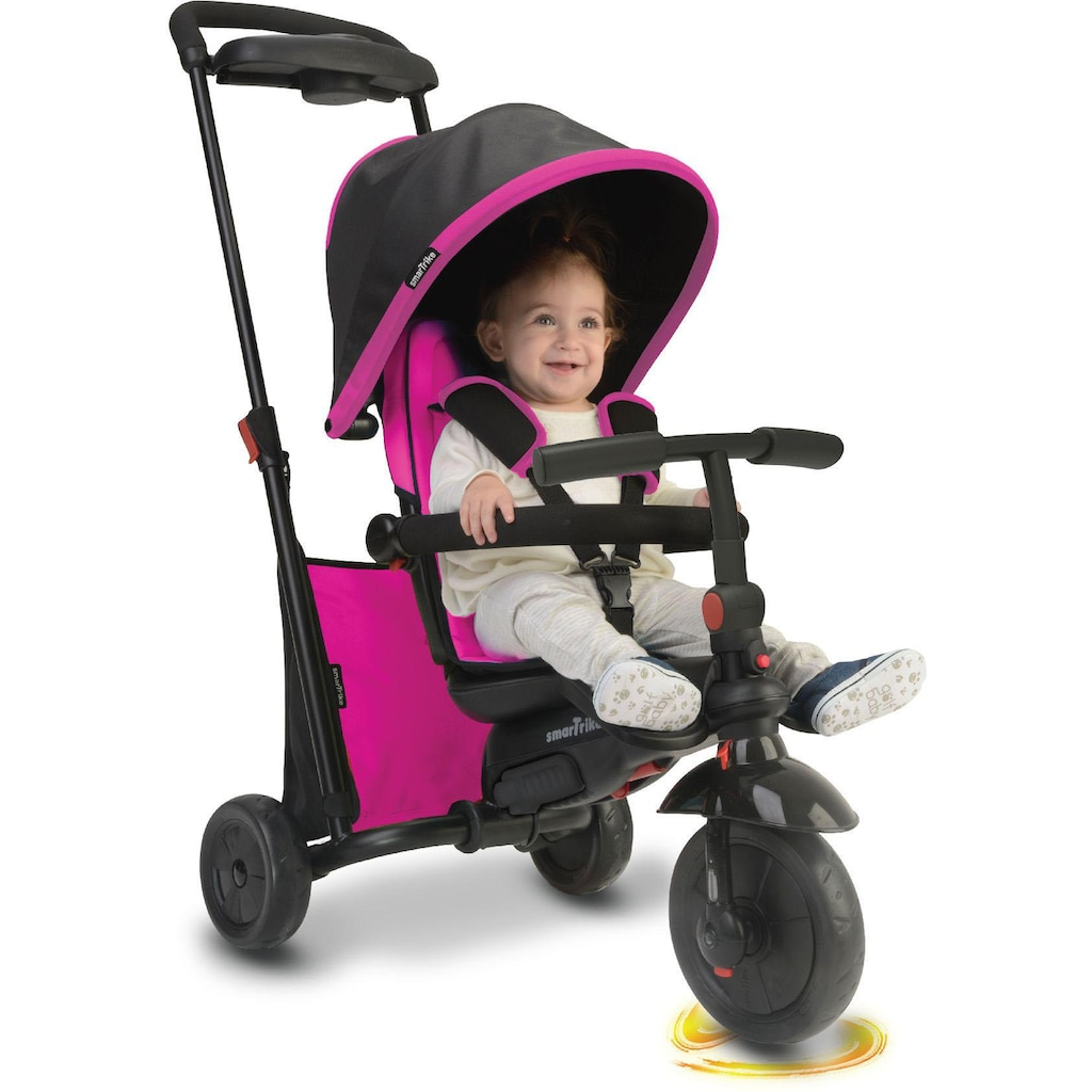 smarTrike® Dreirad »Folding Trike 500 pink«, mit verstellbarem Sonnenschutzdach