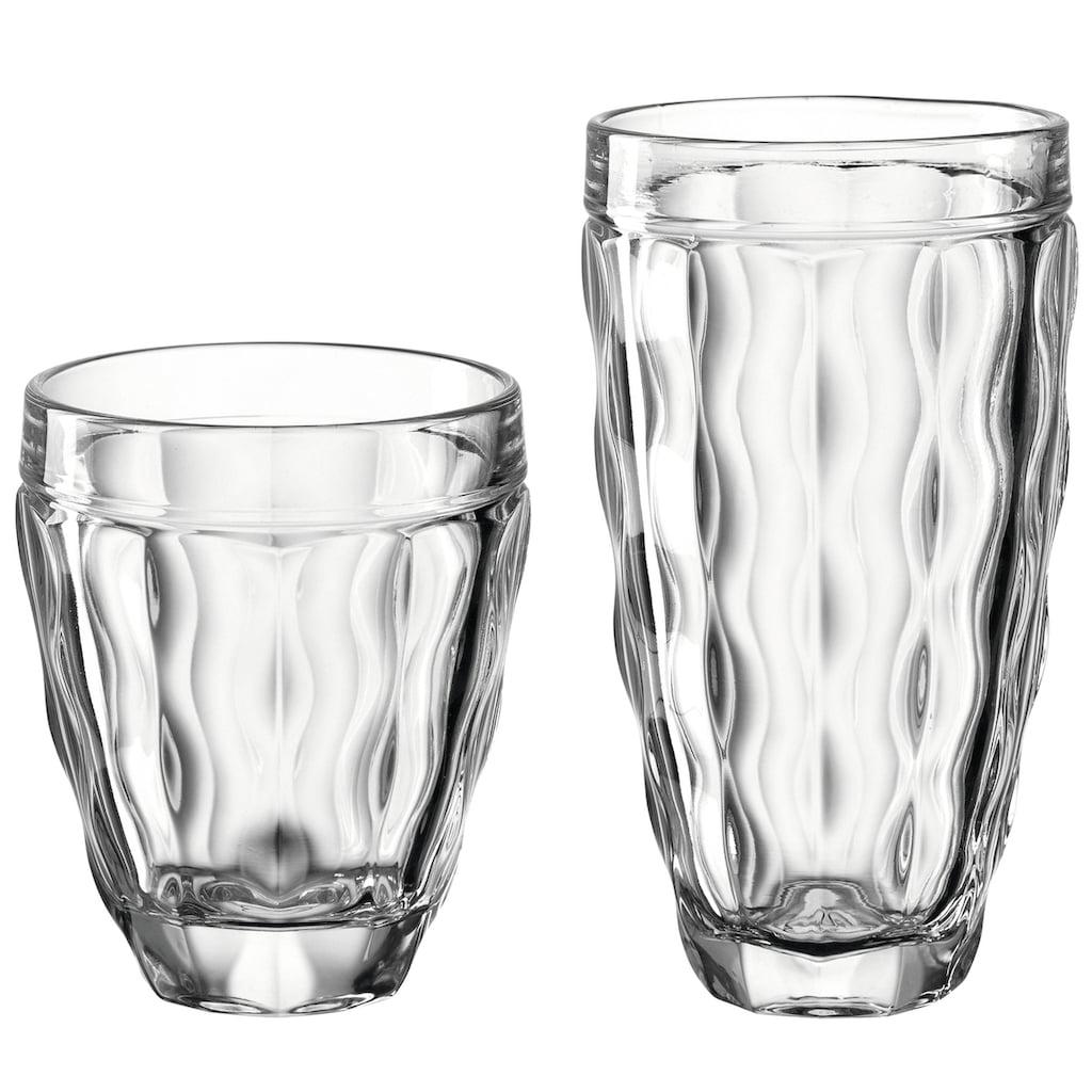 LEONARDO Gläser-Set »BRINDISI«, (Set, 8 tlg., 4 Becher klein, 270 ml-4 Becher groß, 370 ml), (4 Becher klein, 270 ml, 4 Becher groß, 370 ml)