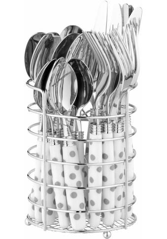 Esmeyer Besteck-Set »Liana«, (Set, 25 tlg.), 24 Teile Besteck, mit Besteckkorb kaufen