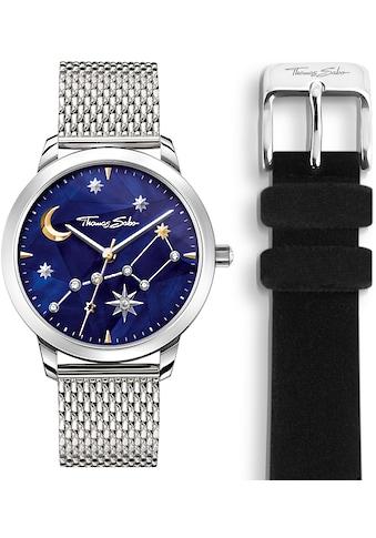 THOMAS SABO Quarzuhr »SET_WA0372-217-209«, (Set, 2 tlg., Uhr mit schwarzem Textil-Wechselarmband) kaufen