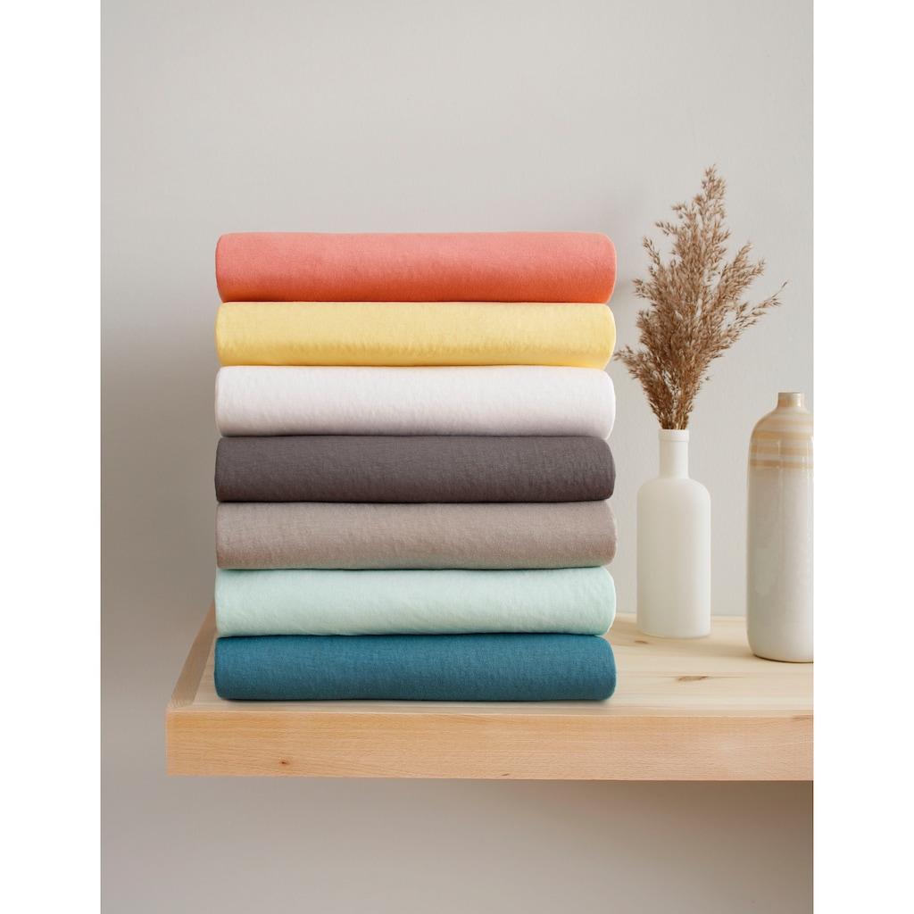 OTTO products Spannbettlaken »Neele«, aus zertifizierter Bio-Baumwolle