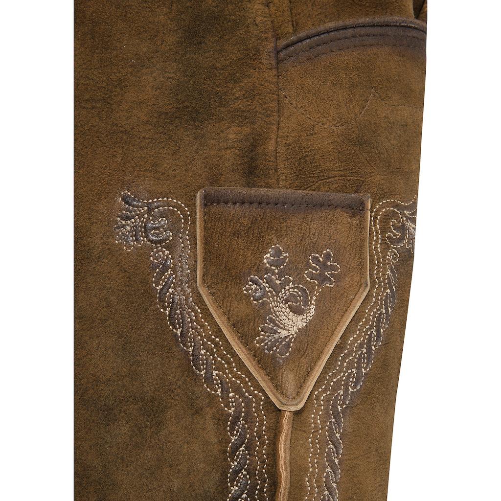 Stockerpoint Trachtenlederhose, mit Gürtel