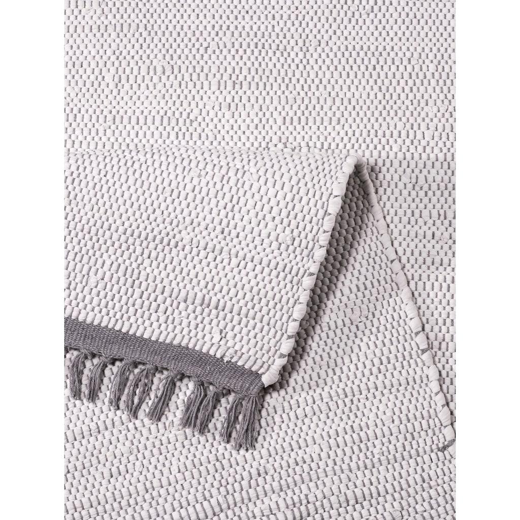 Home affaire Teppich »Fanoos«, rechteckig, 5 mm Höhe, Wendeteppich, Wohnzimmer