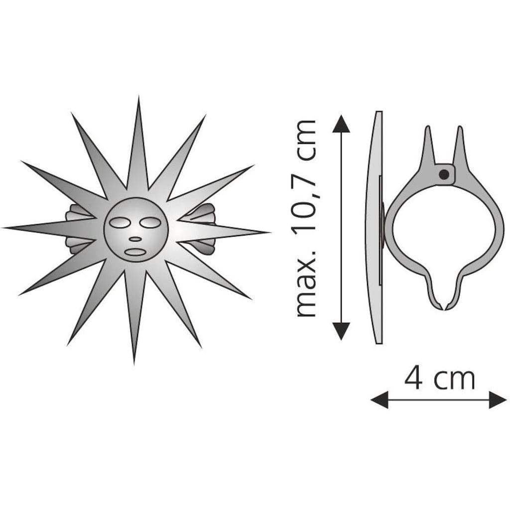 Liedeco Dekoklammer »Sonne«, (Packung, 2 St.), für Gardinen, Vorhänge
