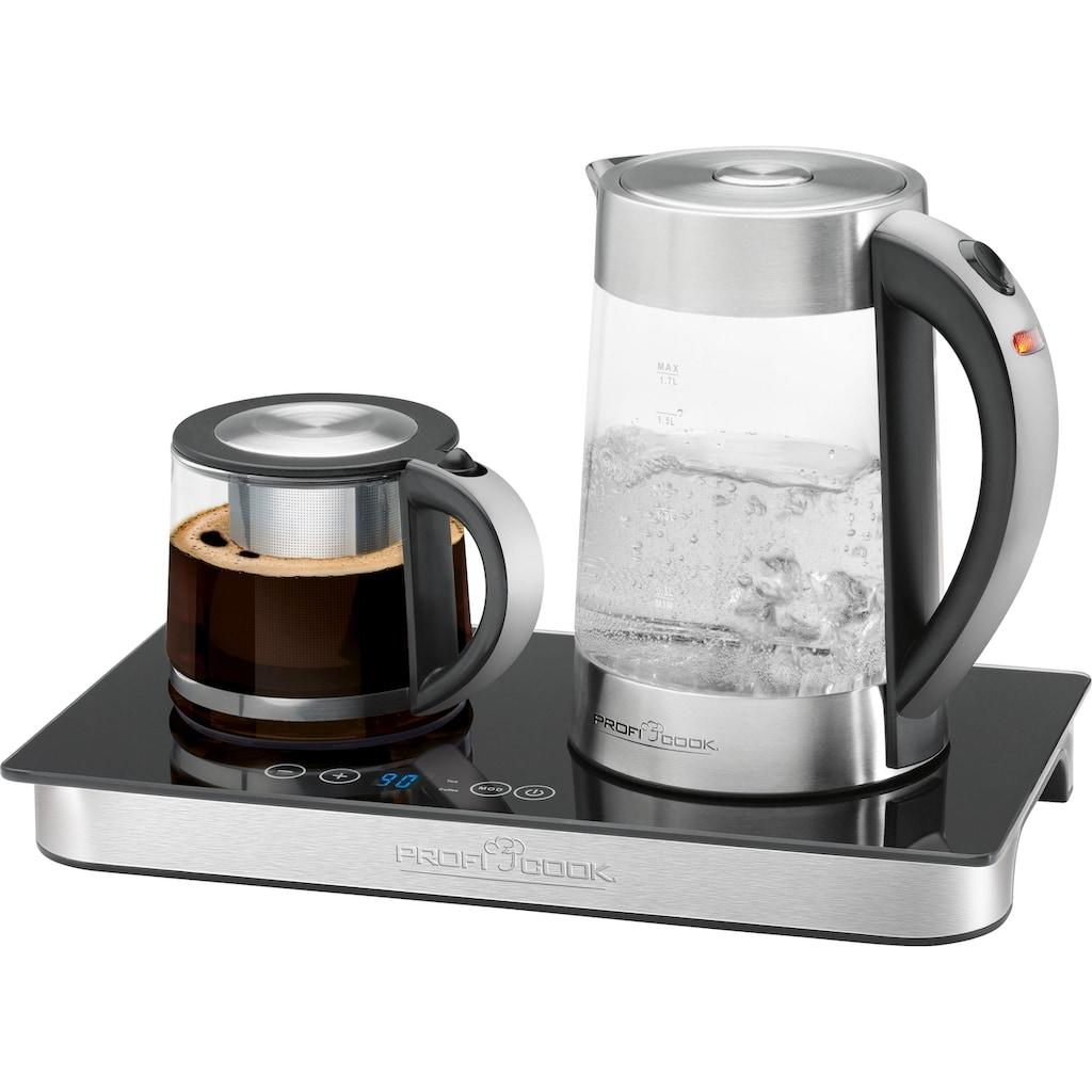 ProfiCook Wasserkocher »Teebereiter, Kaffeebereiter PC-TKS 1056«, 1,7 l, 2200 W