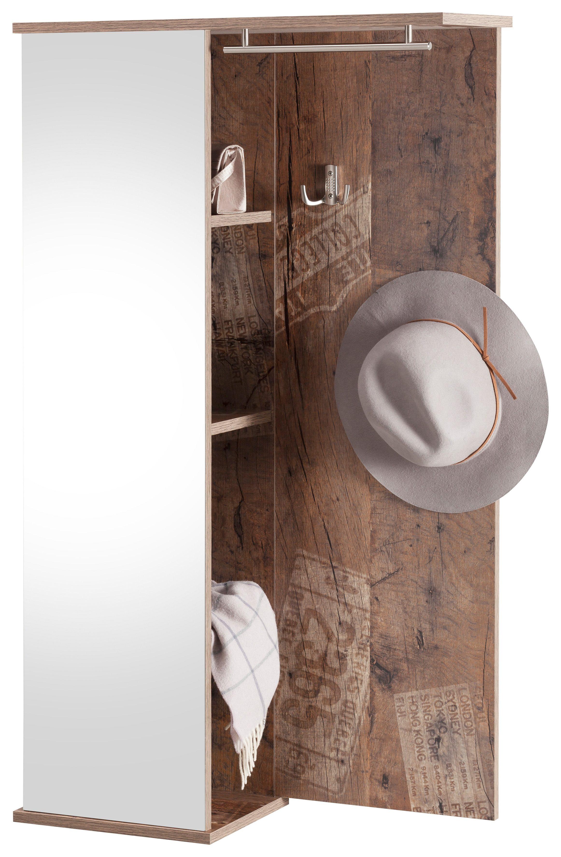 garderobenpaneel schildmeyer dorina mit spiegel bequem. Black Bedroom Furniture Sets. Home Design Ideas
