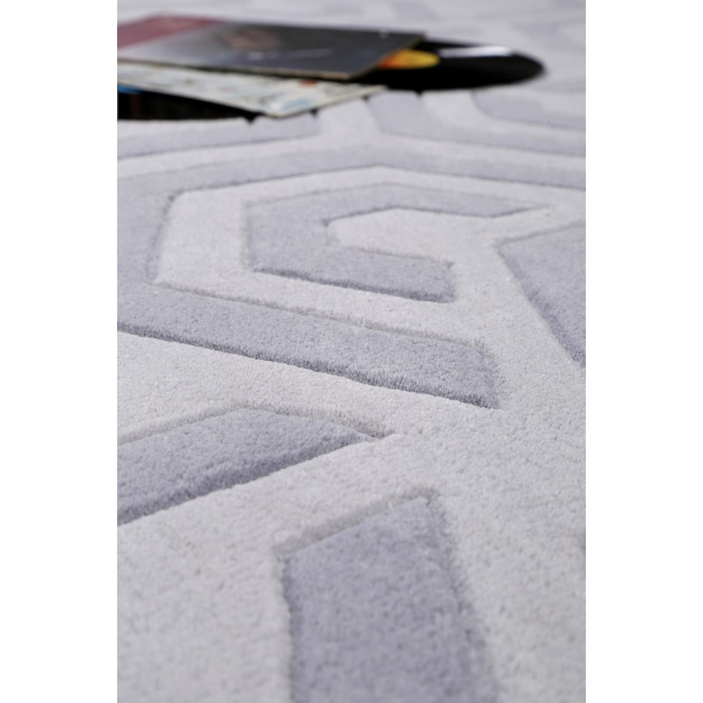 Esprit Teppich »Casino«, rechteckig, 10 mm Höhe, reine Schurwolle, Wohnzimmer