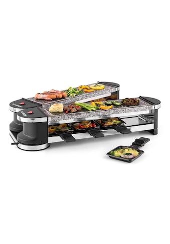 Klarstein Raclette Grill 8 Personen Natustein Grill aufklappbar Tischgrill »RAC2 Tenderloin100« kaufen