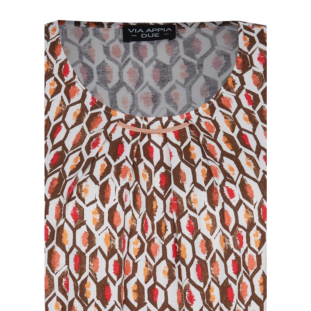 VIA APPIA DUE Blusenshirt, mit geometrischem Allover-Muster