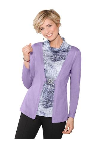 Classic Shirt in attraktiver 2 - in - 1 - Optik mit bedrucktem Einsatz kaufen