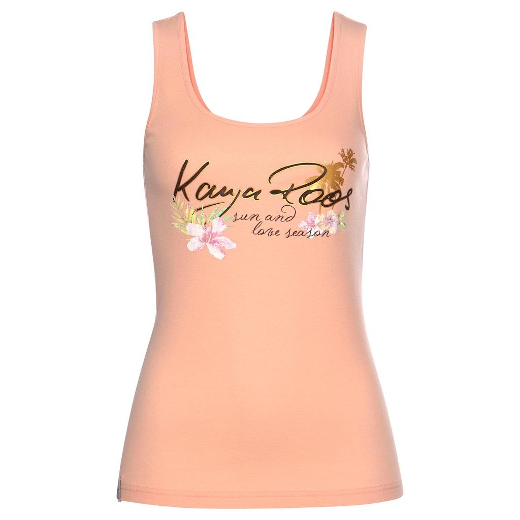 KangaROOS Tanktop, mit femininem Frontdruck