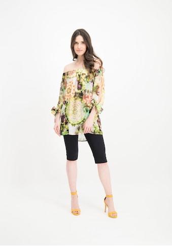 Nicowa Leichte Carmenbluse COMITA mit Batik-Design kaufen