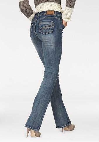Arizona Bootcut-Jeans »mit Zippertasche«, High Waist kaufen