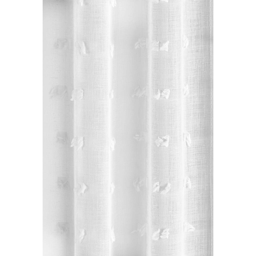 Guido Maria Kretschmer Home&Living Gardine »Belle«, transparent, Scherliqualität mit Fransenoberfläche