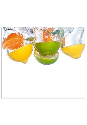 Artland Küchenrückwand »Zitrusfrüchte fallen in klares Wasser«, selbstklebend in... kaufen