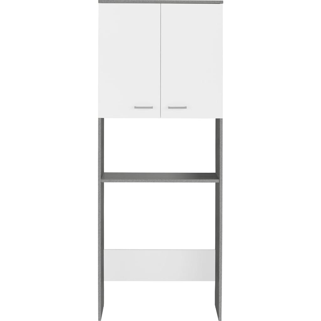 Schildmeyer Waschmaschinenumbauschrank »Mobes«, Breite/Höhe: 70,3/188,6 cm, Mehrzweckschrank mit Nische für Waschmaschinen in 60er Breite, Stauraum im Regalfach und hinter Doppeltür