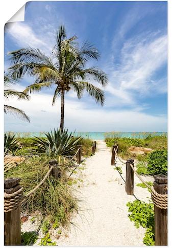 Artland Wandbild »Weg zum Strand II«, Strandbilder, (1 St.), in vielen Größen &... kaufen