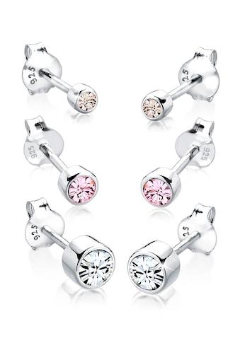 Elli Ohrring-Set »(Set, 6 tlg) rund mit Kristalle« kaufen