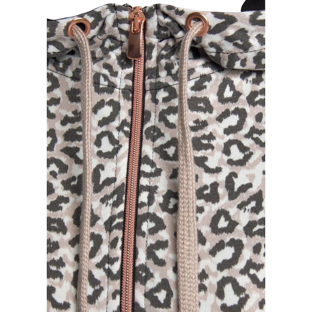 LASCANA Kapuzensweatjacke, mit Reißverschluss und Taschen