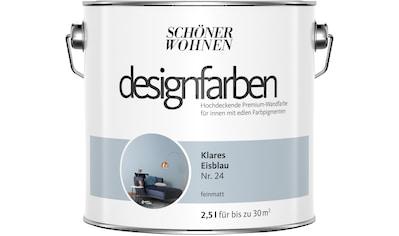 SCHÖNER WOHNEN FARBE Farbe »Designfarben«, Klares Eisblau Nr. 24, feinmatt 2,5 l kaufen