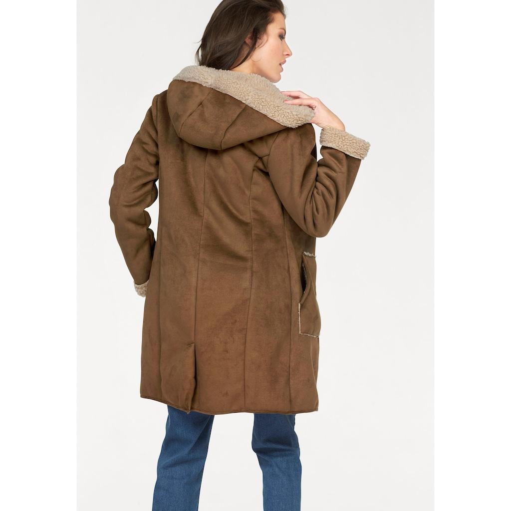 Aniston CASUAL Kurzmantel, mit Kapuze