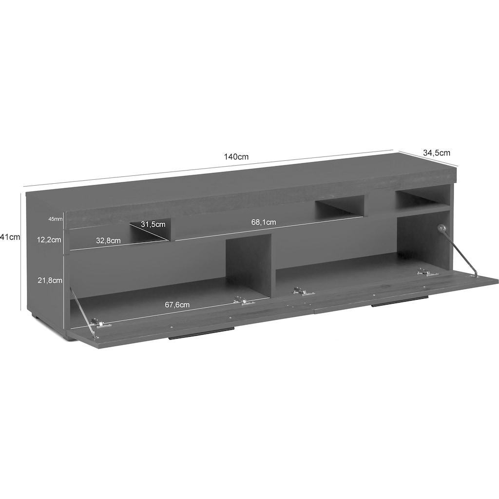 Wilmes Lowboard, Breite 140 cm